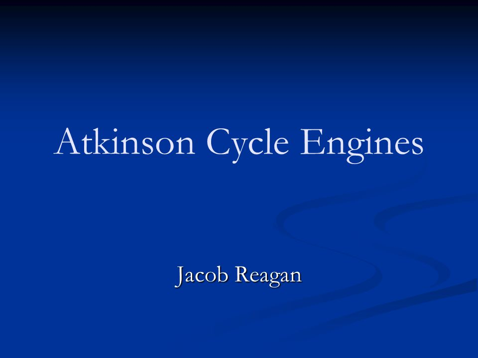 Atkinson Cycle Engines