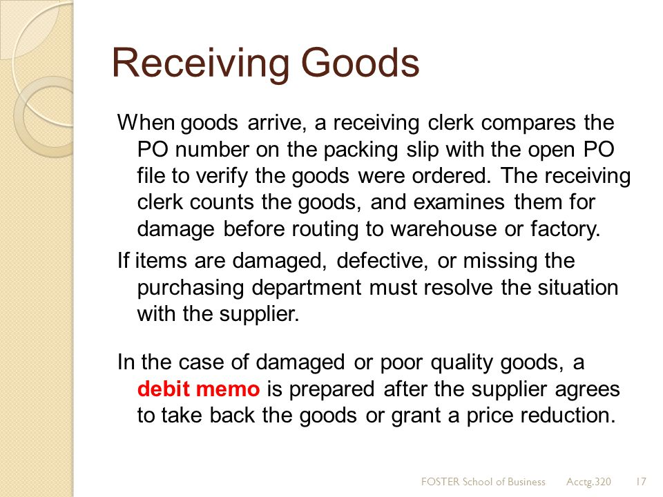 Receiving Goods