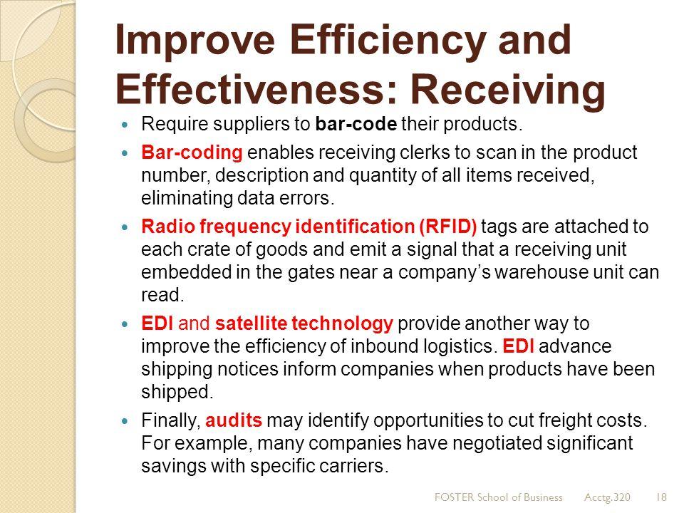 Improve Efficiency and Effectiveness: Receiving