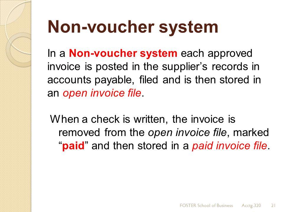 Non-voucher system