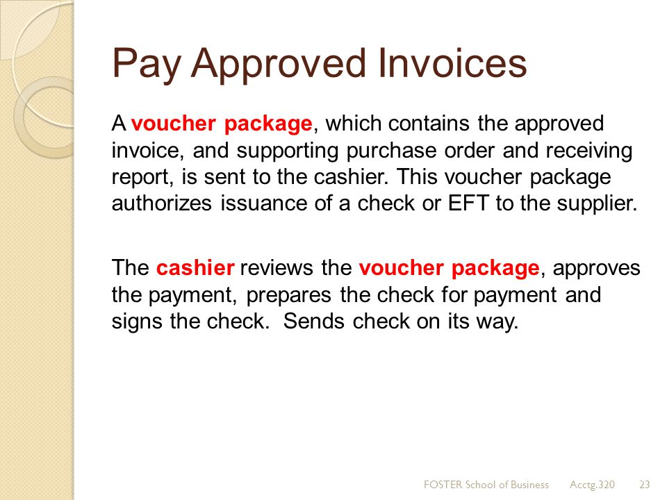 Pay Approved Invoices