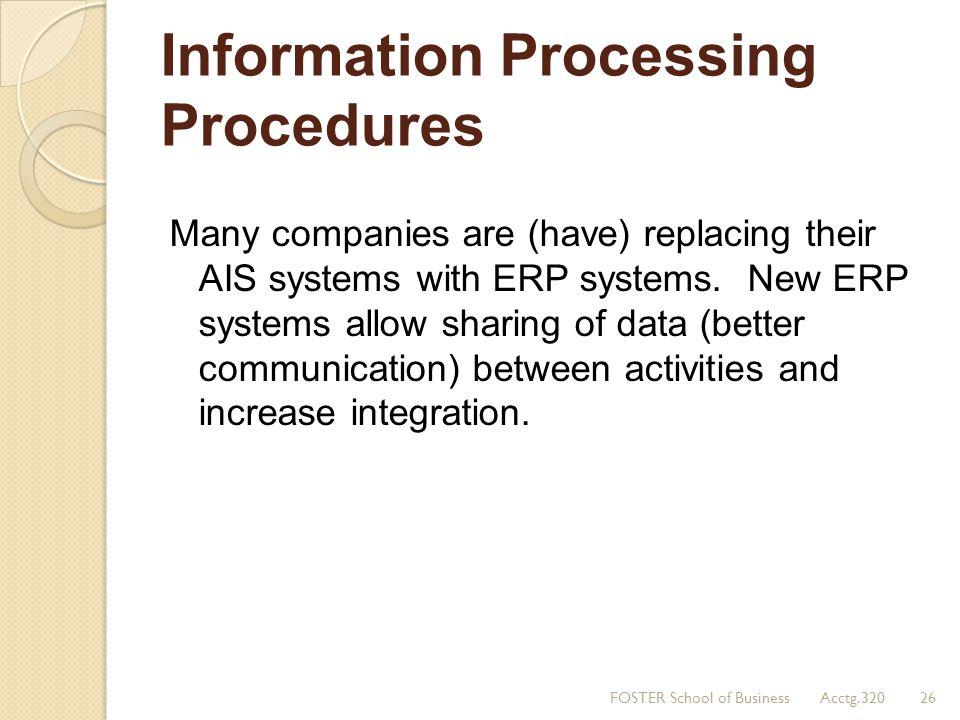 Information Processing Procedures