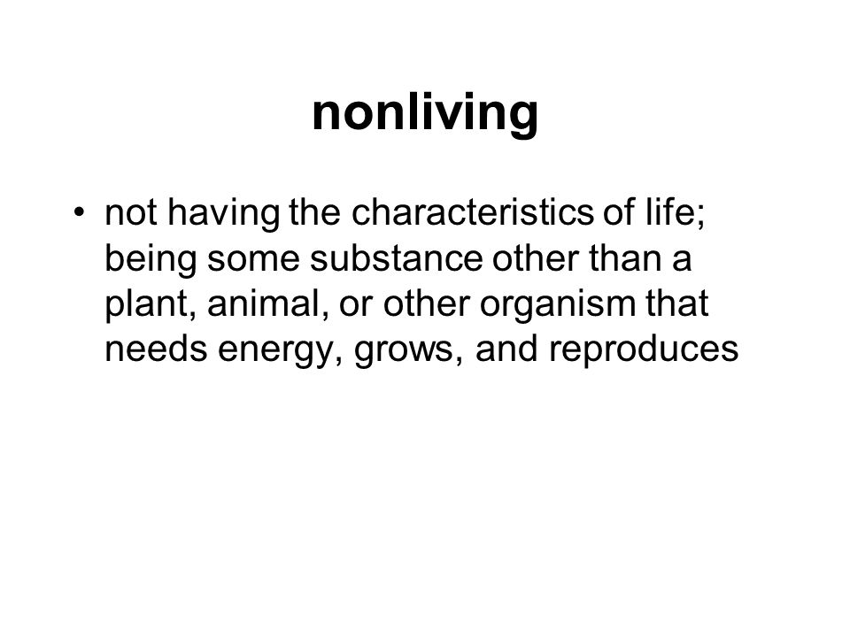nonliving