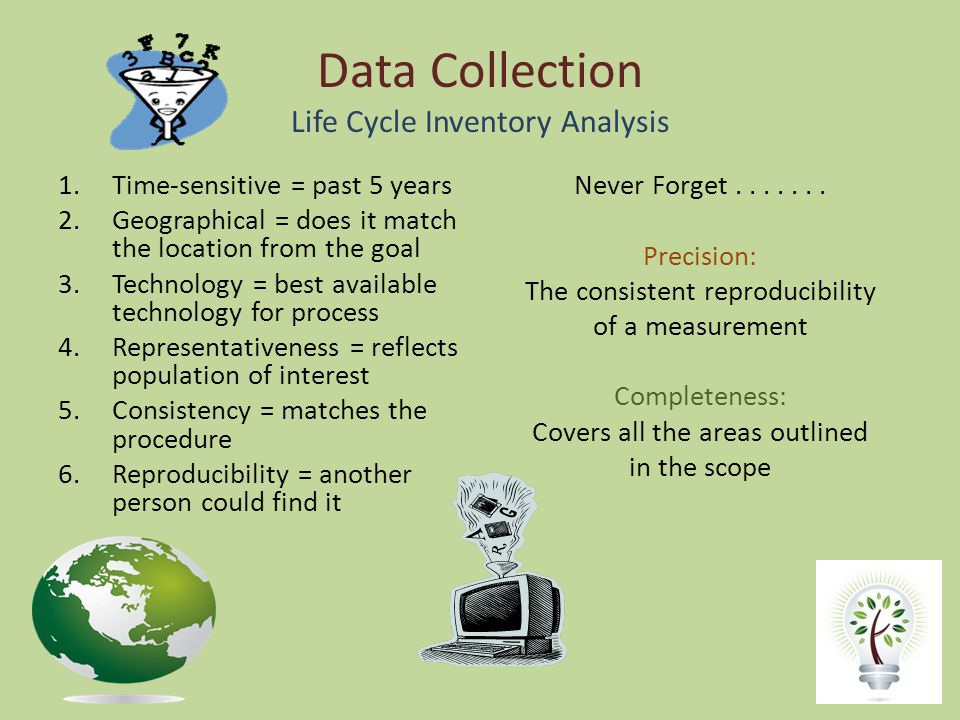 Data Collection Life Cycle Inventory Analysis