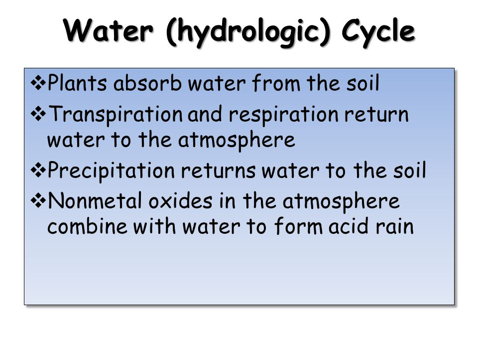 Water (hydrologic) Cycle