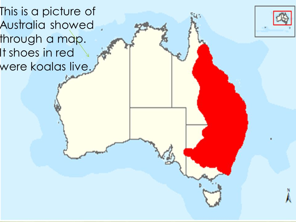 This is a picture of Australia showed through a map