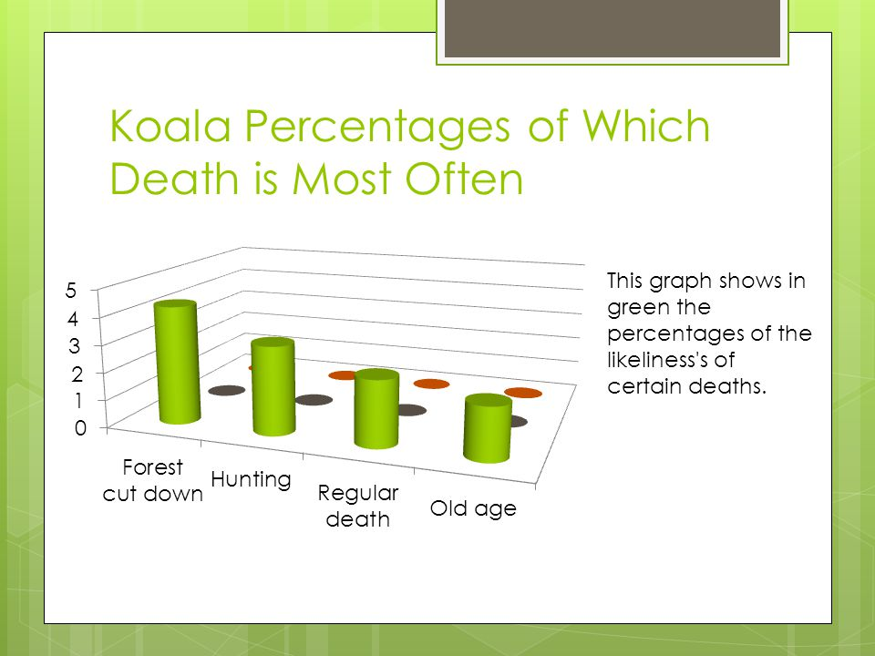 Koala Percentages of Which Death is Most Often