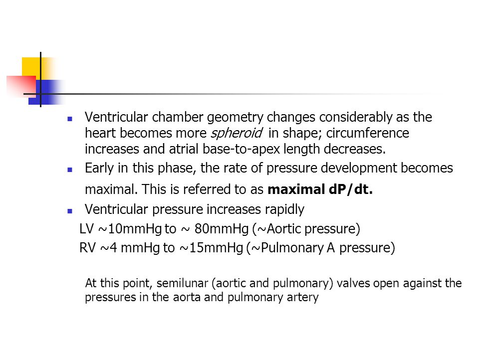 Ventricular pressure increases rapidly