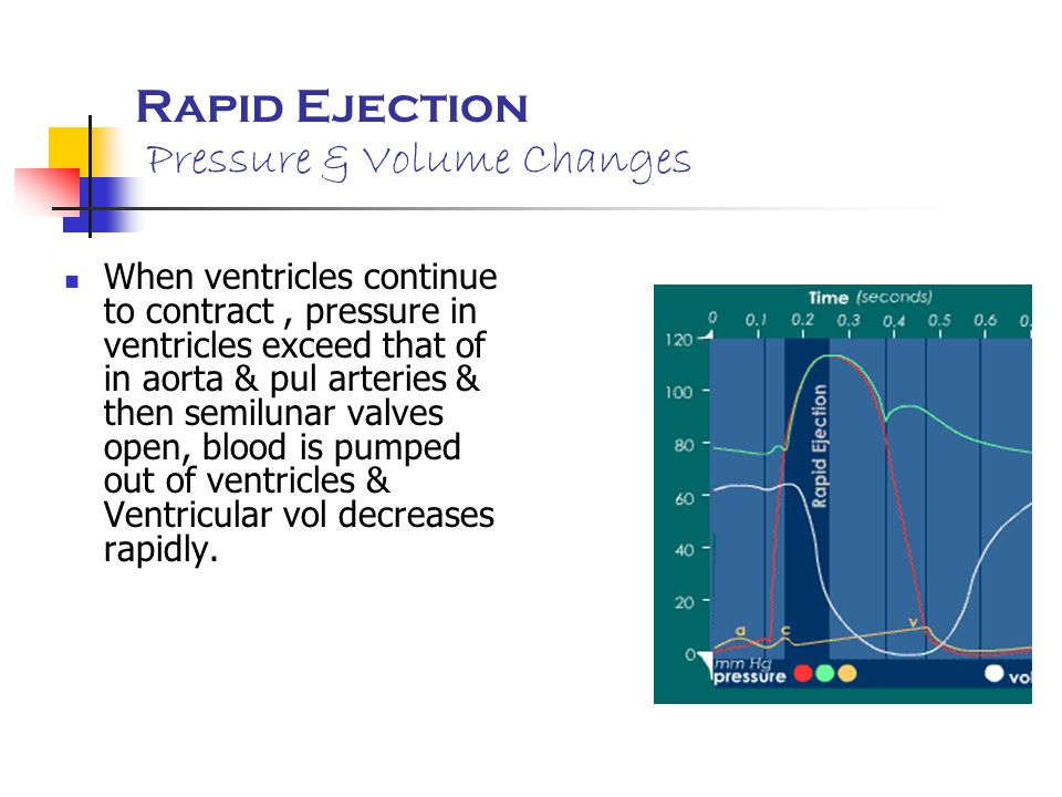 Rapid Ejection Pressure & Volume Changes