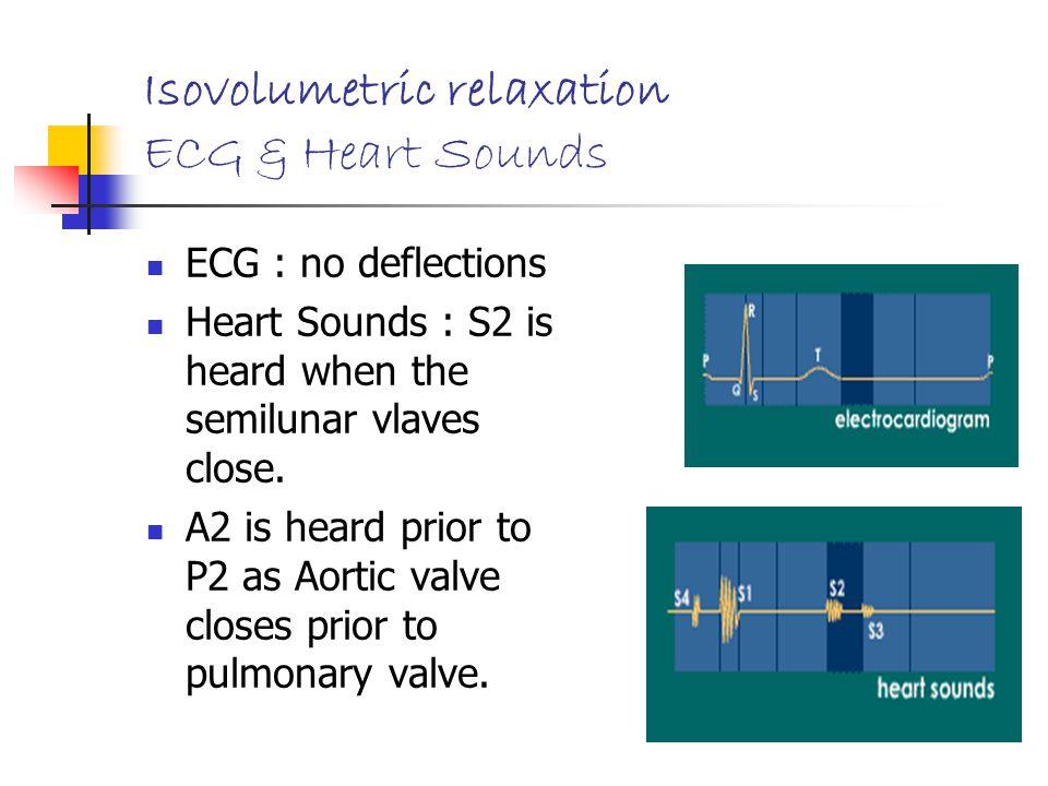 Isovolumetric relaxation ECG & Heart Sounds