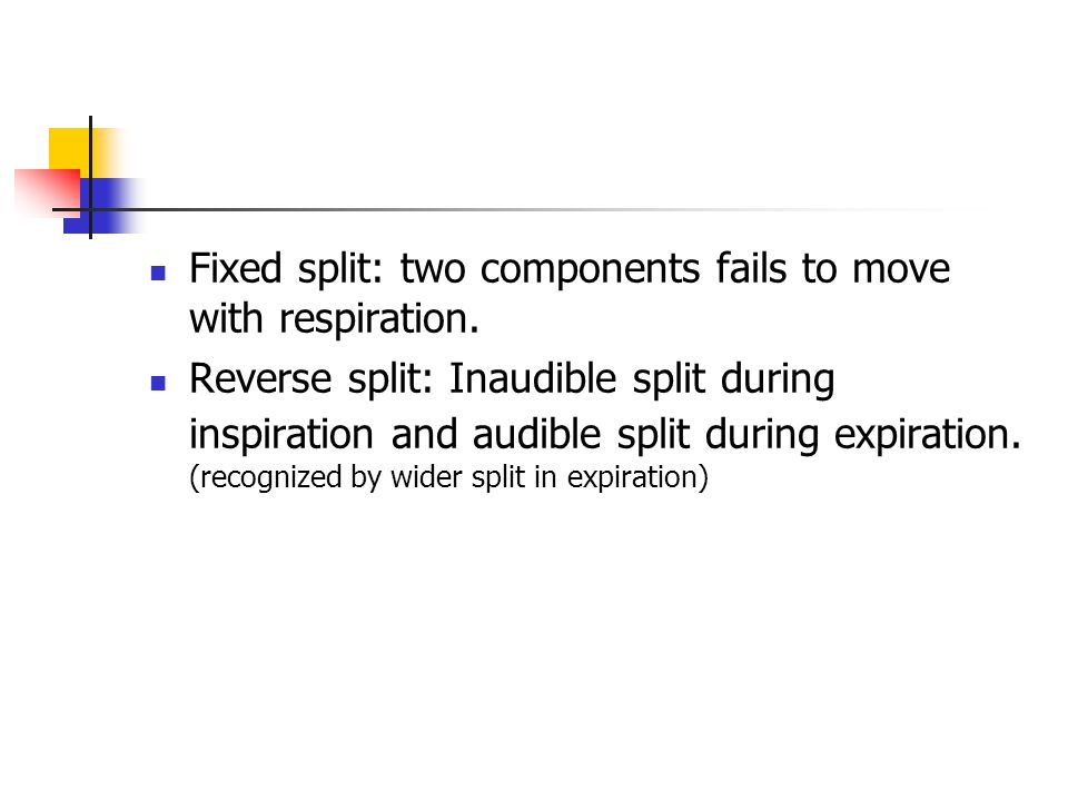 Fixed split: two components fails to move with respiration.