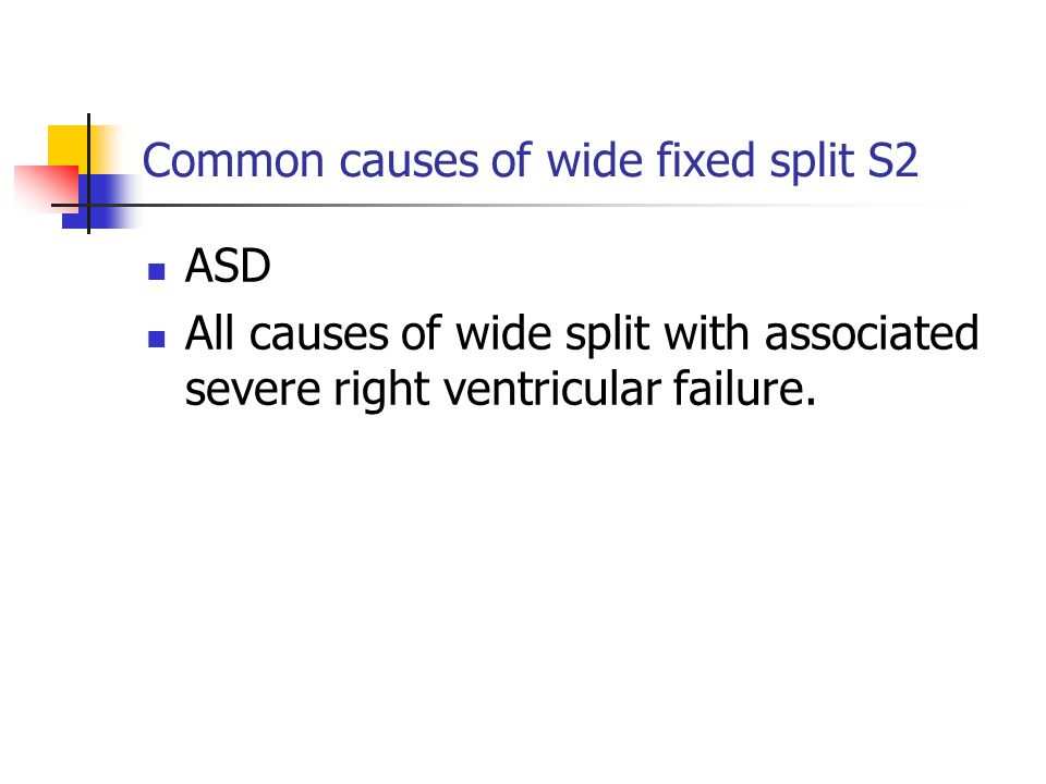 Common causes of wide fixed split S2