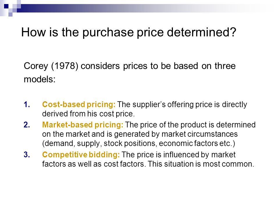 How is the purchase price determined