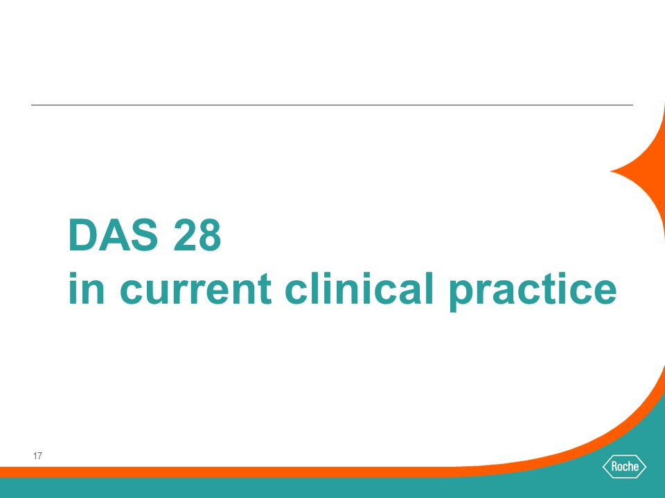 DAS 28 in current clinical practice