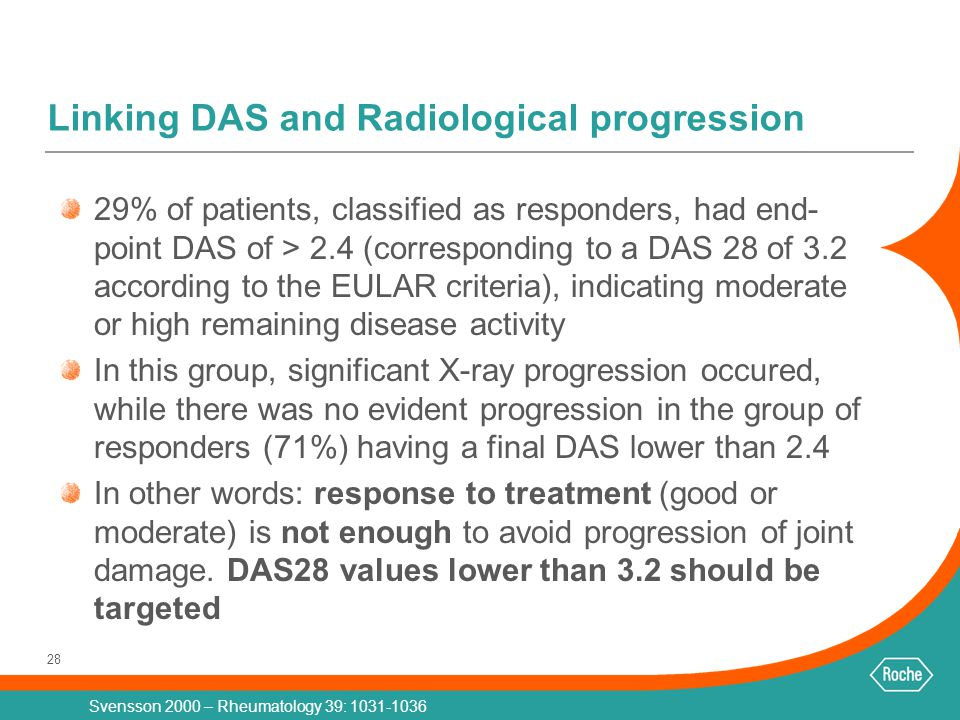 Linking DAS and Radiological progression