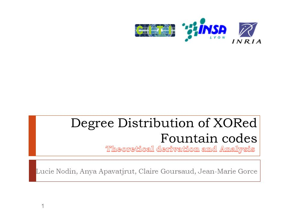 Degree Distribution of XORed Fountain codes