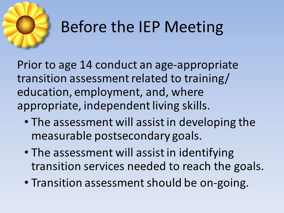 Before the IEP Meeting