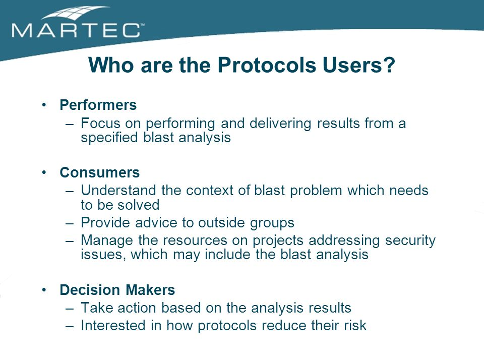 Who are the Protocols Users