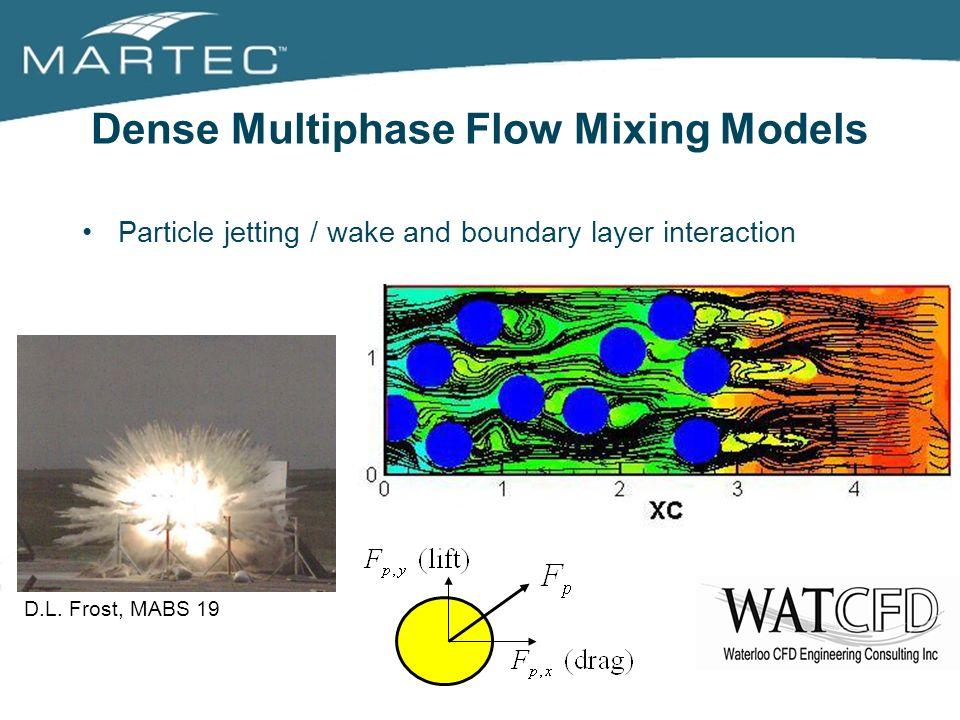 Dense Multiphase Flow Mixing Models