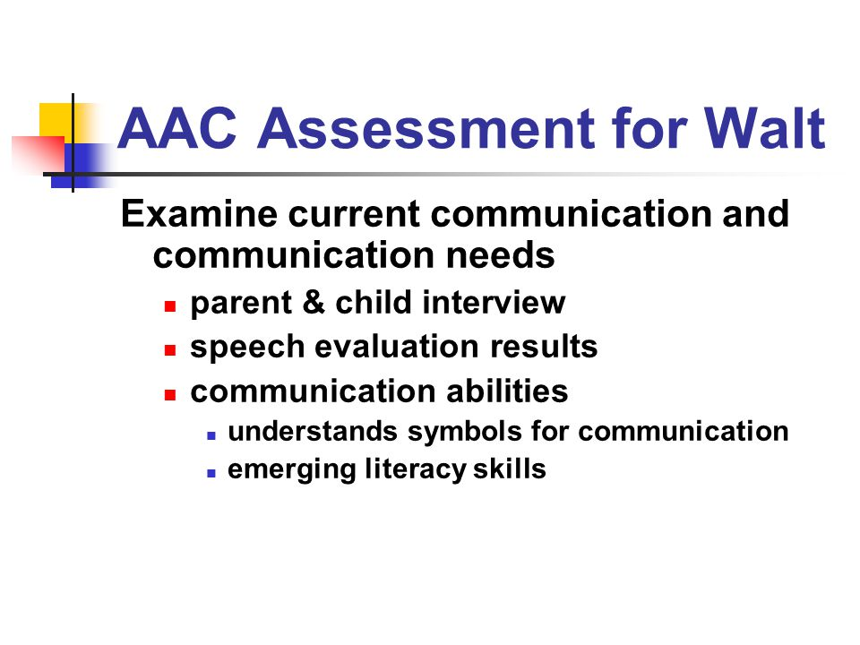 AAC Assessment for Walt