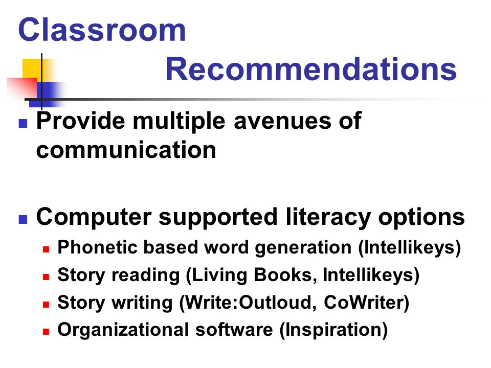 Classroom Recommendations