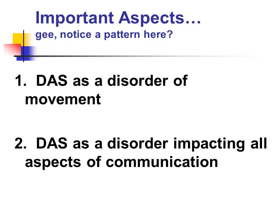 Important Aspects… gee, notice a pattern here