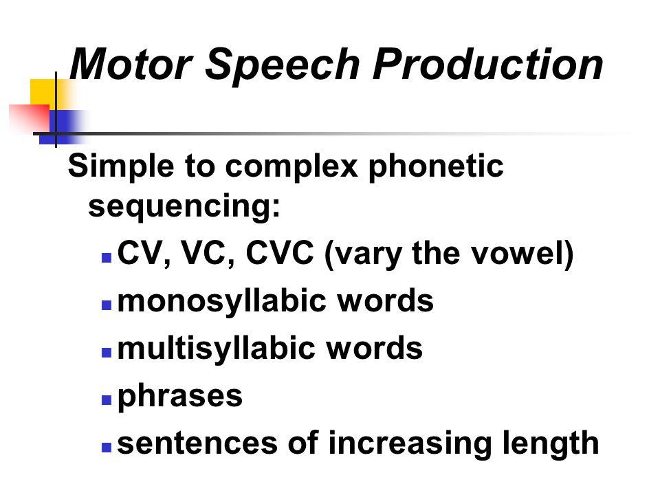 Motor Speech Production