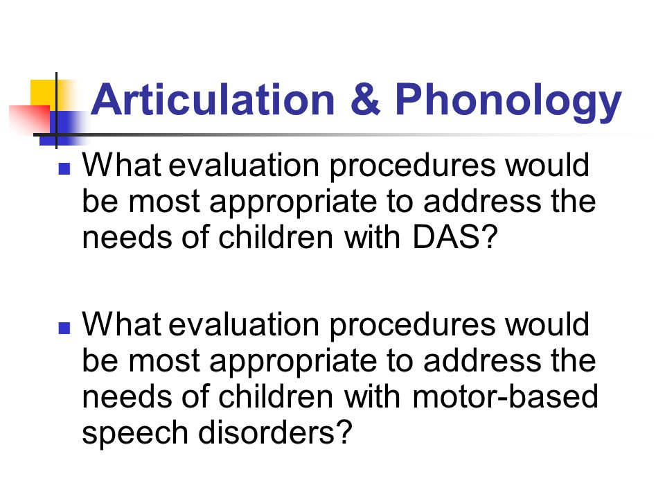 Articulation & Phonology