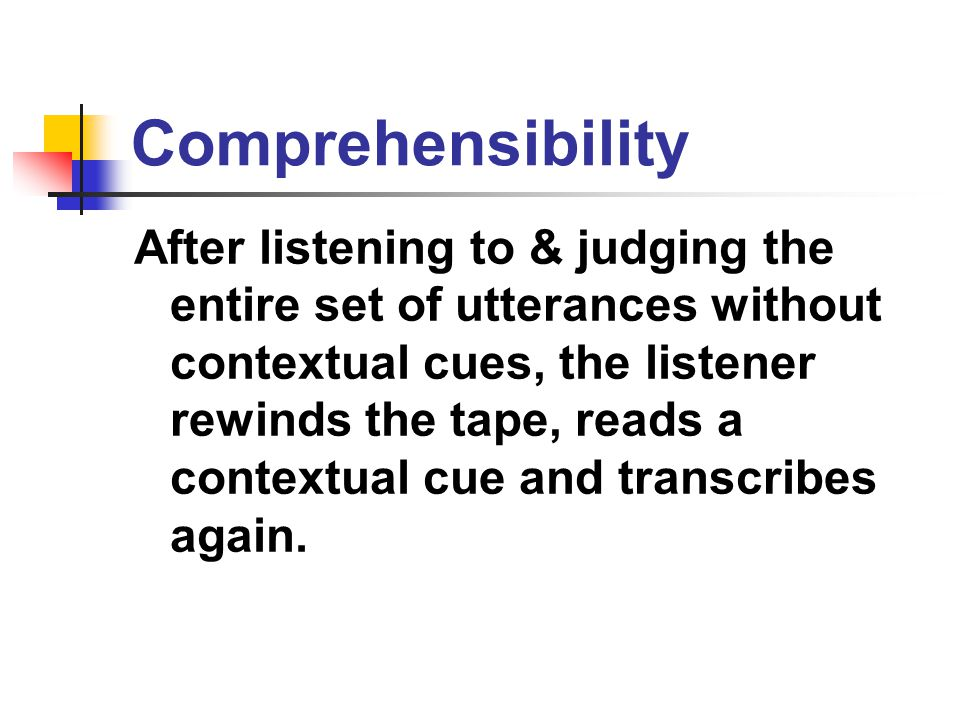 Comprehensibility