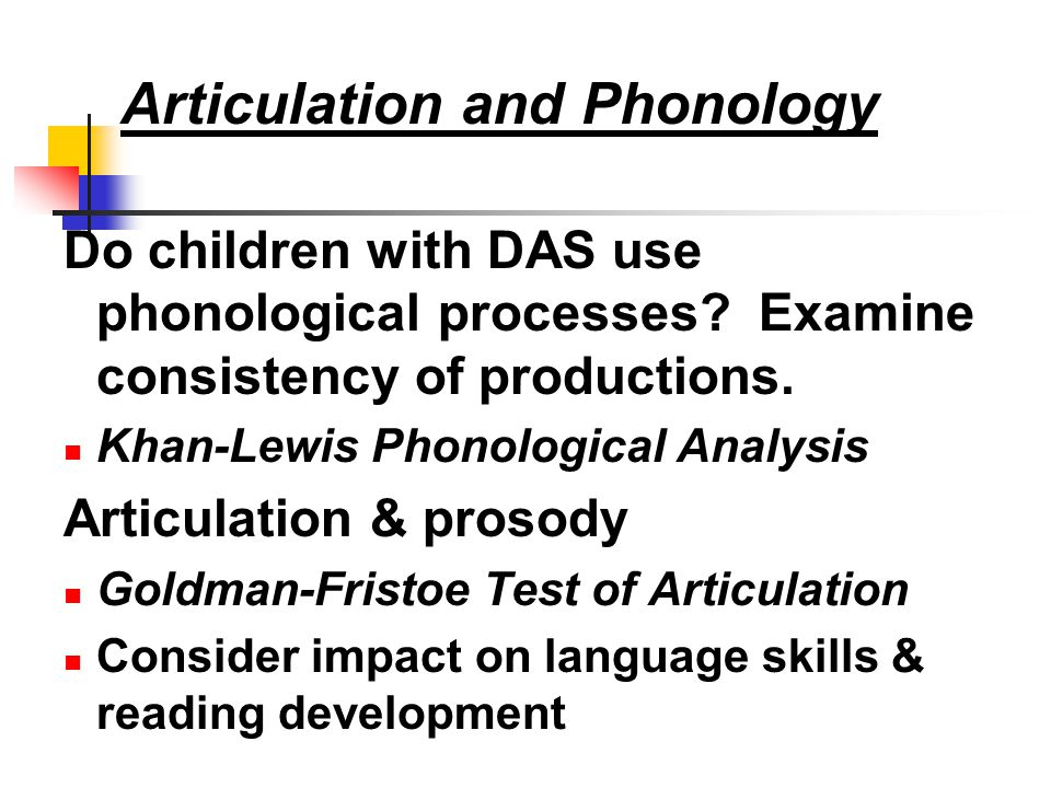 Articulation and Phonology