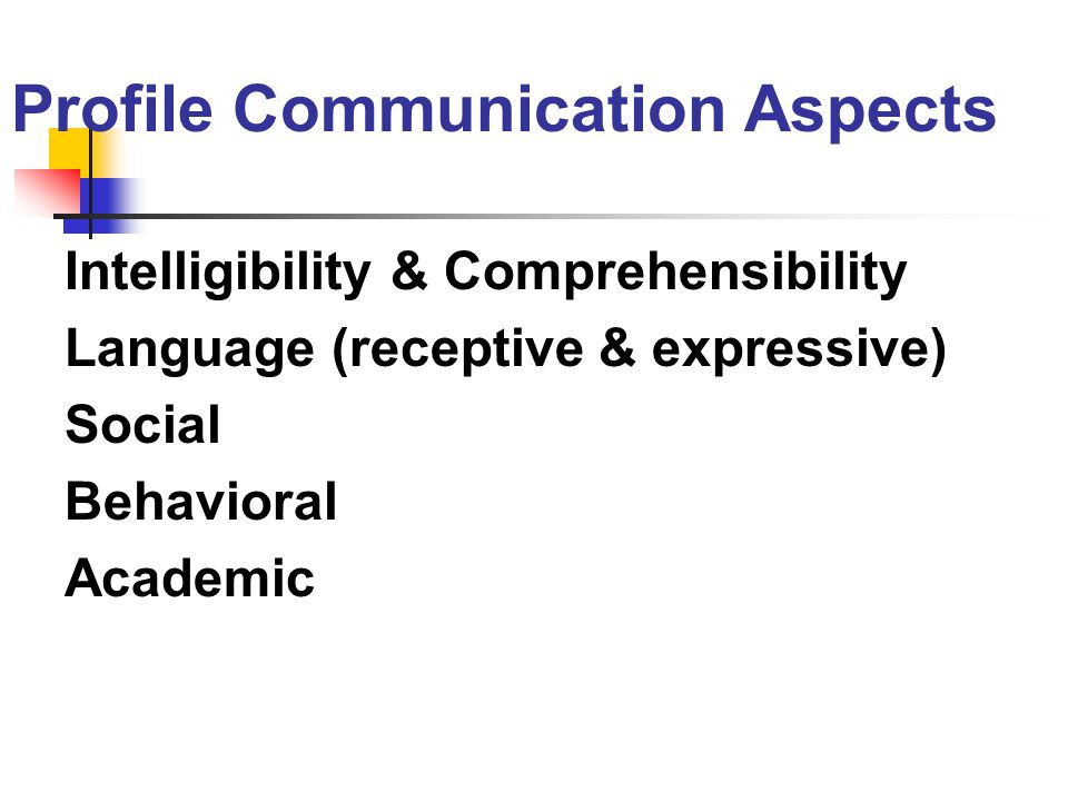 Profile Communication Aspects