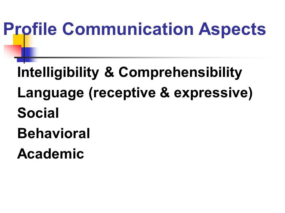 Profile Communication Aspects