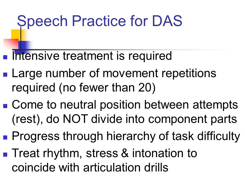 Speech Practice for DAS