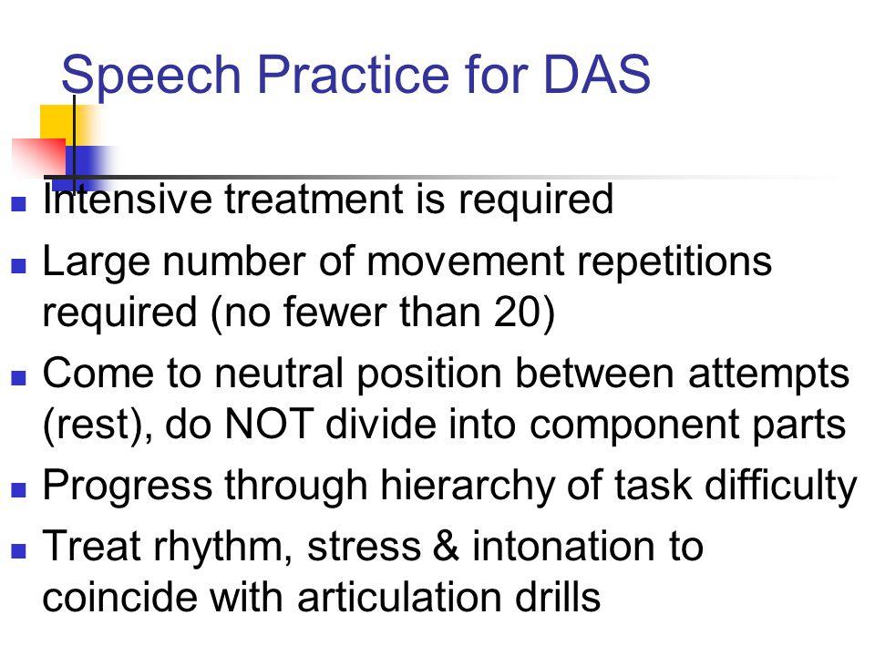 Speech Practice for DAS