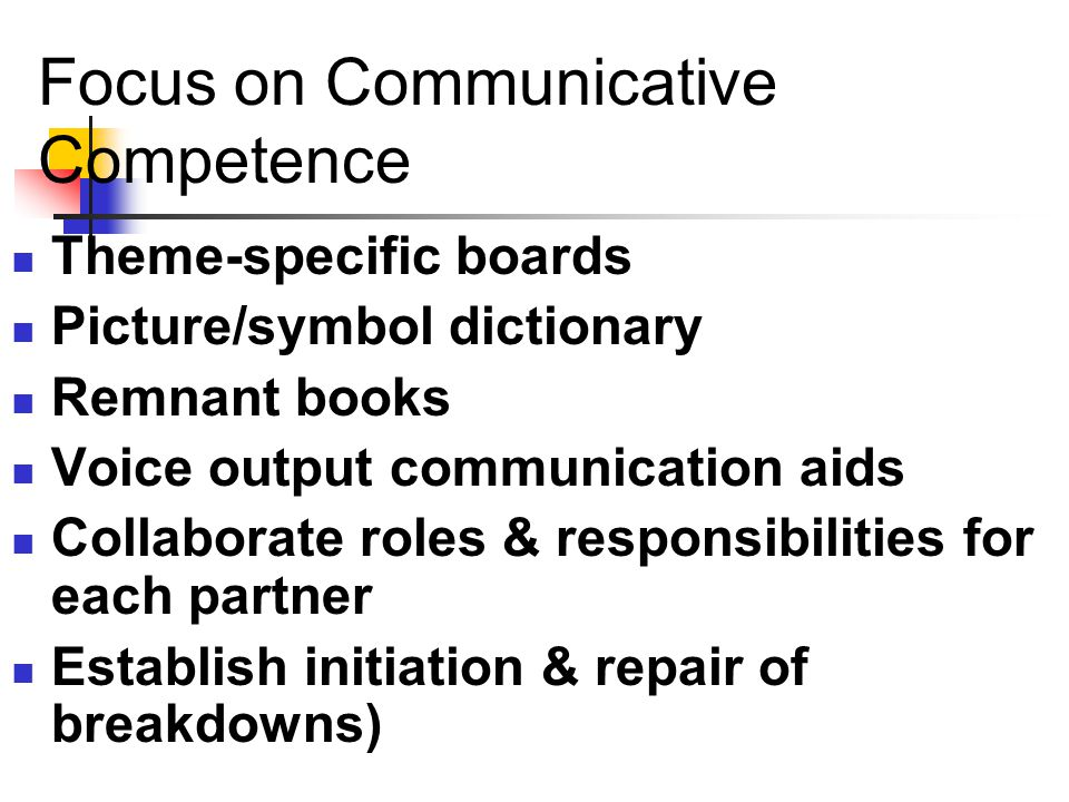 Focus on Communicative Competence