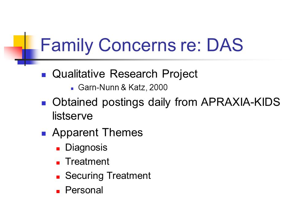 Family Concerns re: DAS