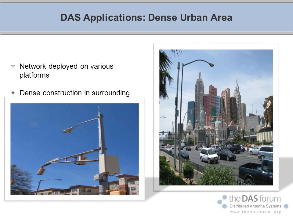 DAS Applications: Dense Urban Area