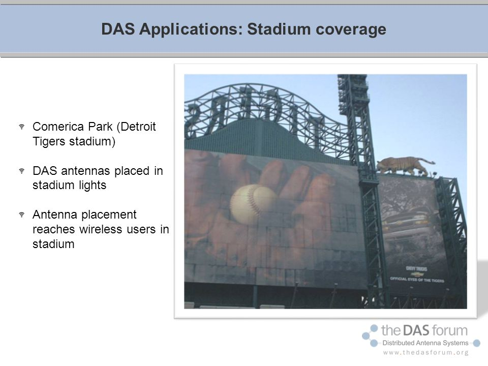 DAS Applications: Stadium coverage