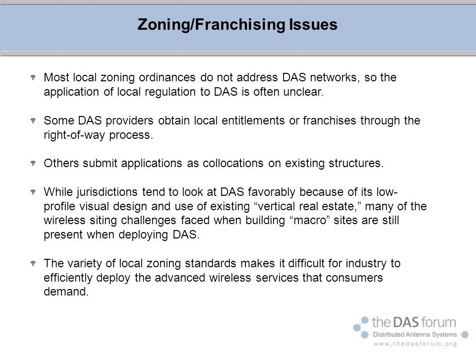 Zoning/Franchising Issues