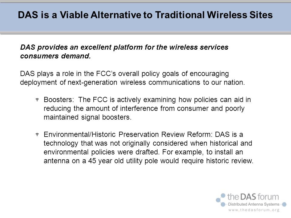 DAS is a Viable Alternative to Traditional Wireless Sites