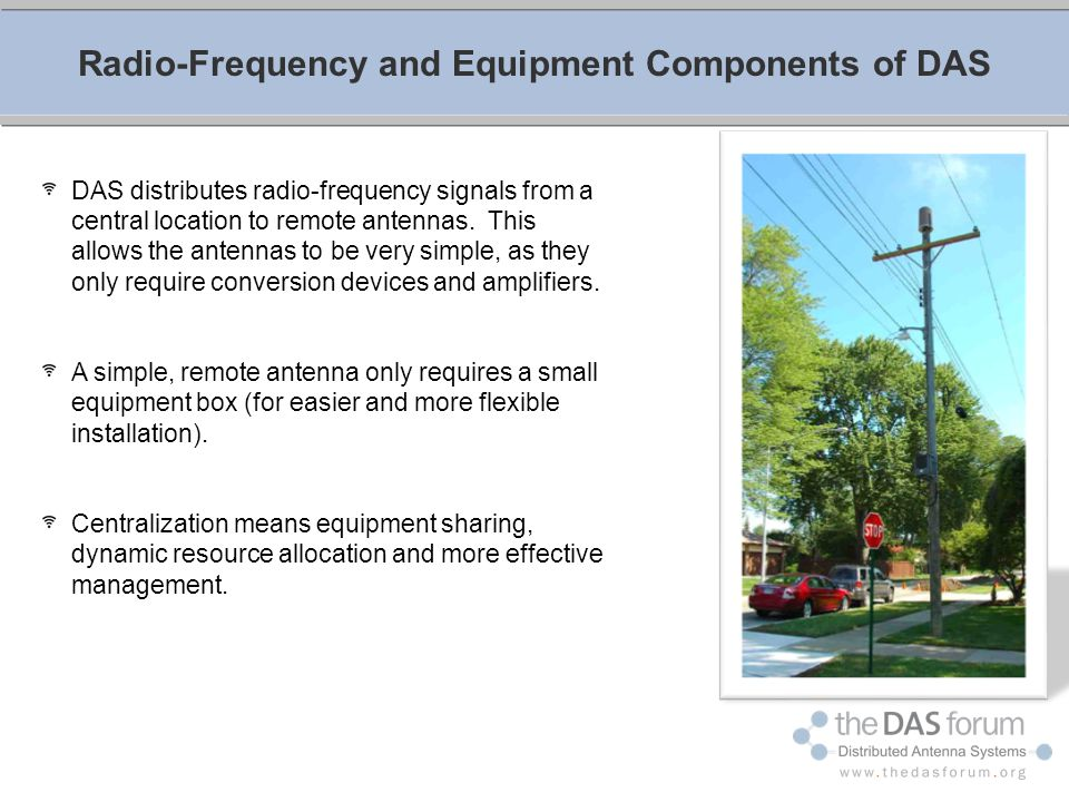 Radio-Frequency and Equipment Components of DAS