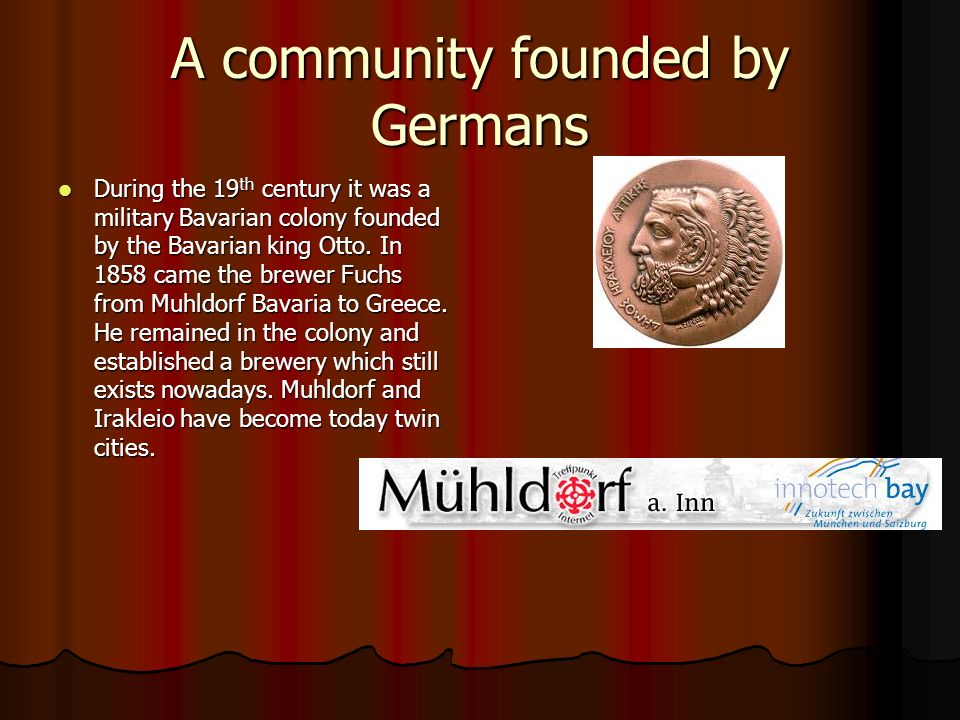 A community founded by Germans