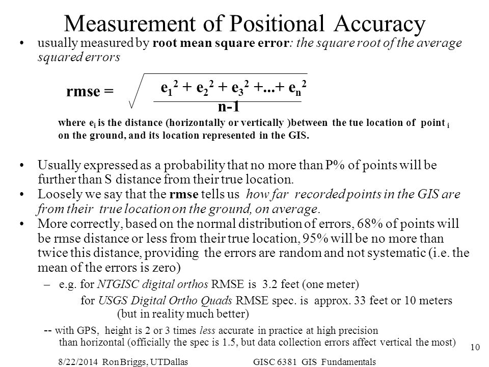 Measurement of Positional Accuracy