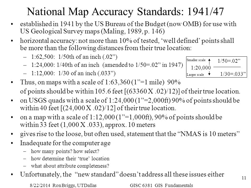 National Map Accuracy Standards: 1941/47