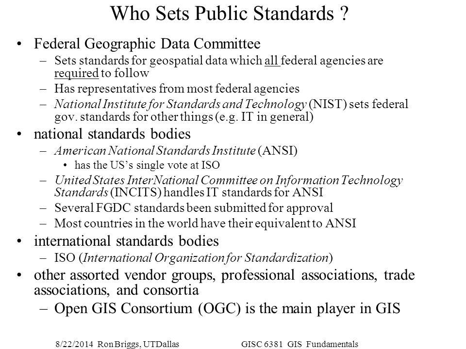 Who Sets Public Standards