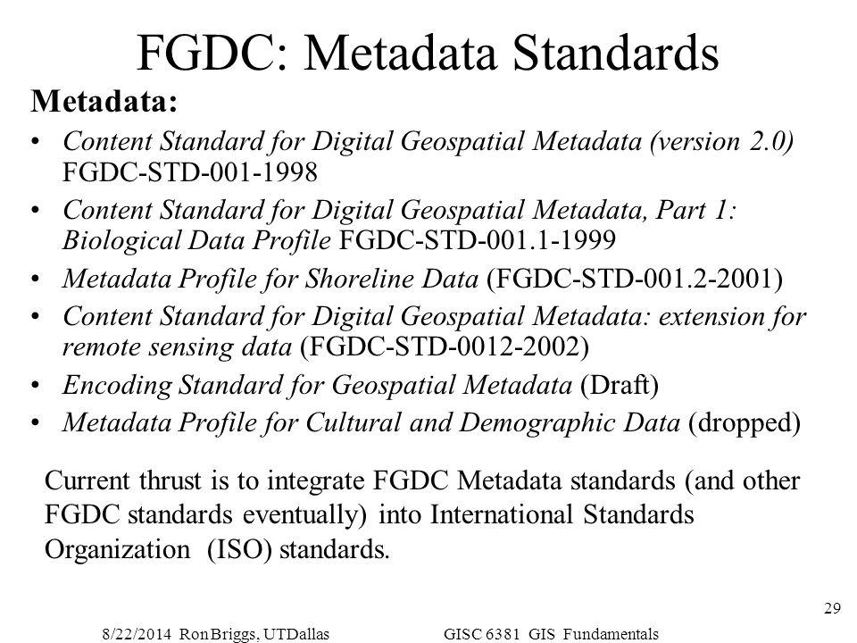 FGDC: Metadata Standards