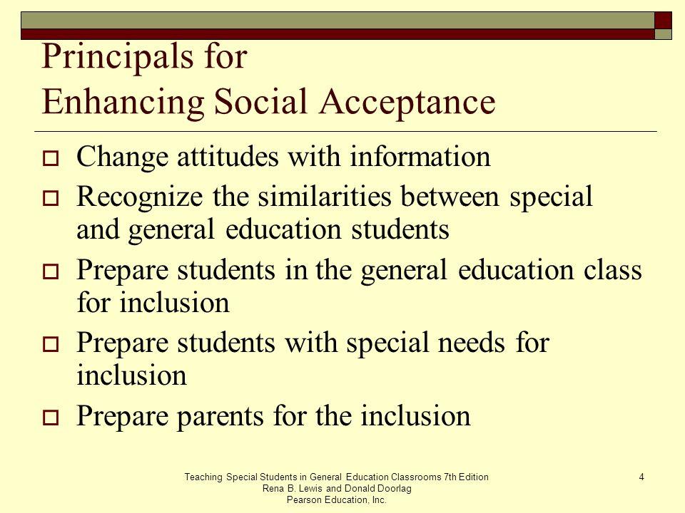 Principals for Enhancing Social Acceptance