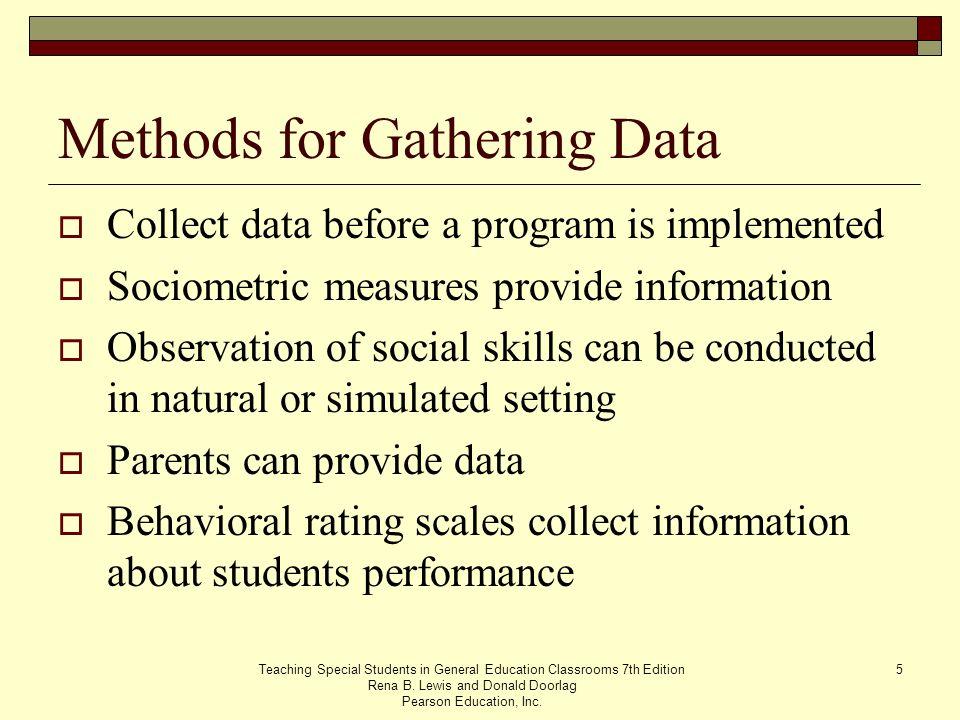 Methods for Gathering Data