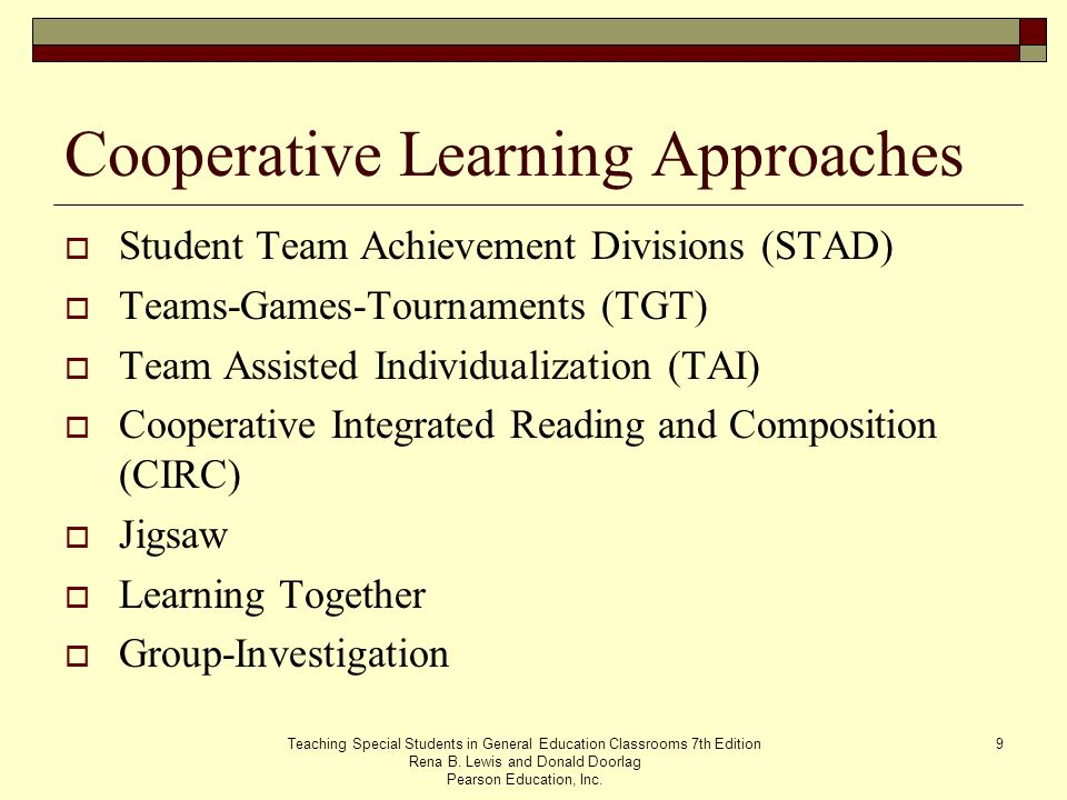 Cooperative Learning Approaches