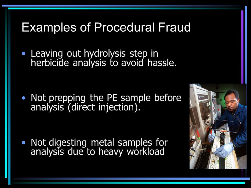 Examples of Procedural Fraud